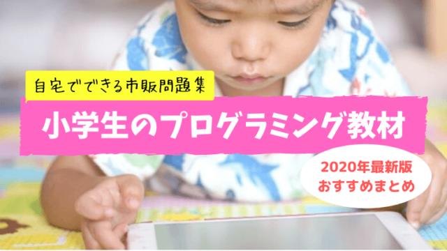 小学生自宅用市販プログラミング本